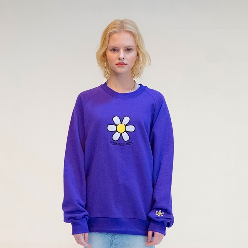 [더완더 :THEWANDER ] DAISY SWEATSHIRT PURPLE