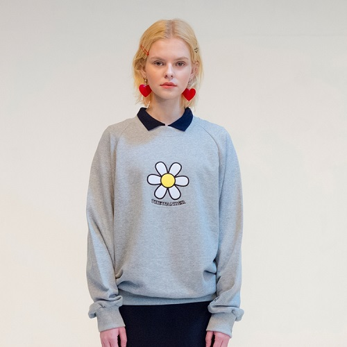 [더완더 :THEWANDER ] DAISY SWEATSHIRT GREY