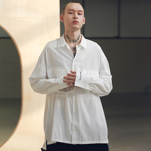 [매스노운 : MASSNOUN] SB TWO POCKET LONG SHIRTS MSNST001-WT