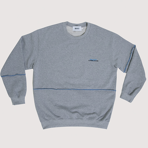 [오브젝트:OBJECT] HYPERLINKING SWEATSHIRT (GRAY)