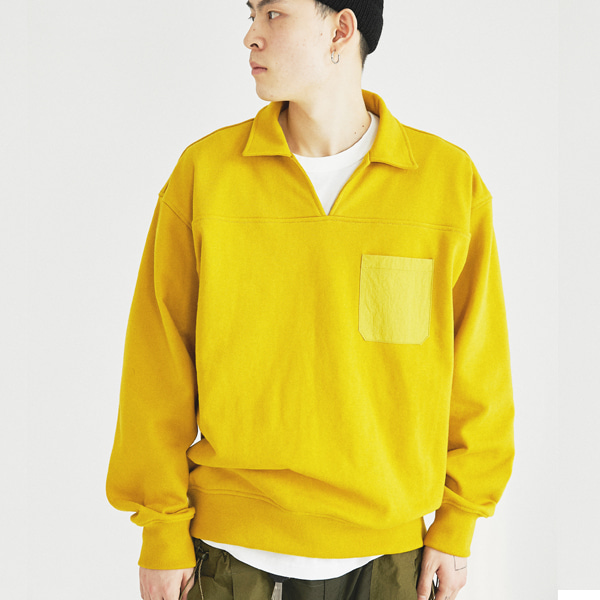 [컨츄리파우더:countrypowder]  COUNTRY COLLAR SWEATSHIRTS(MUSTARD)