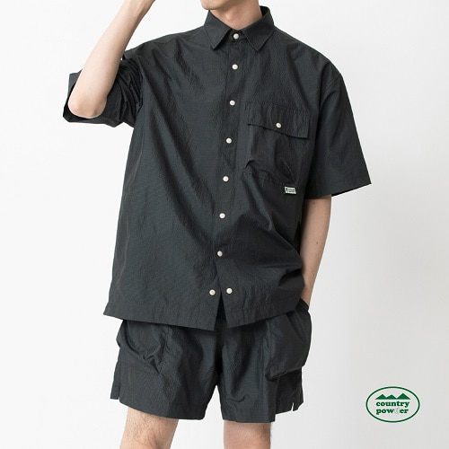 [컨츄리파우더:countrypowder] HIKE OVER FIT CHECK SHIRTS (DARK OLIVE)