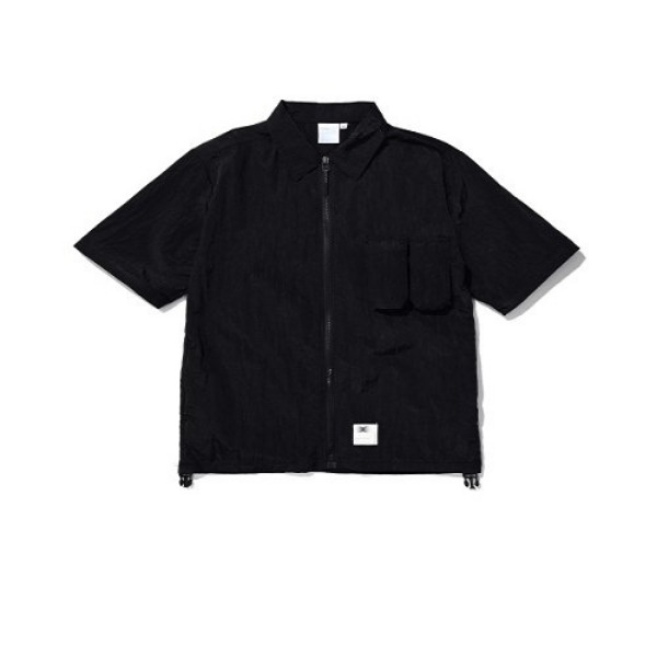 [더블에이씨:AAC] Zippered Hybrid Over-Shirt (black)