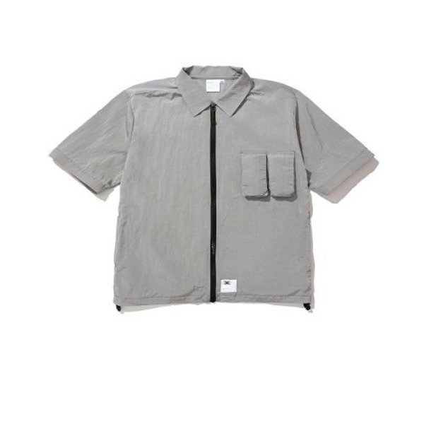 [더블에이씨:AAC] Zippered Hybrid Over-Shirt (gray)