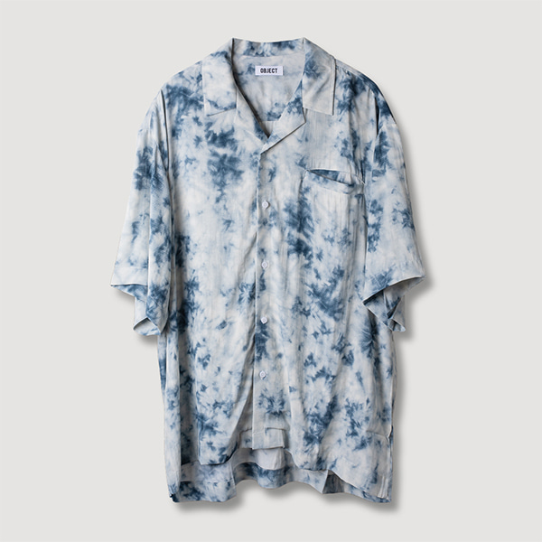 [오브젝트:OBJECT] TIE DYE HAWAIIAN SHIRT (BLUE)