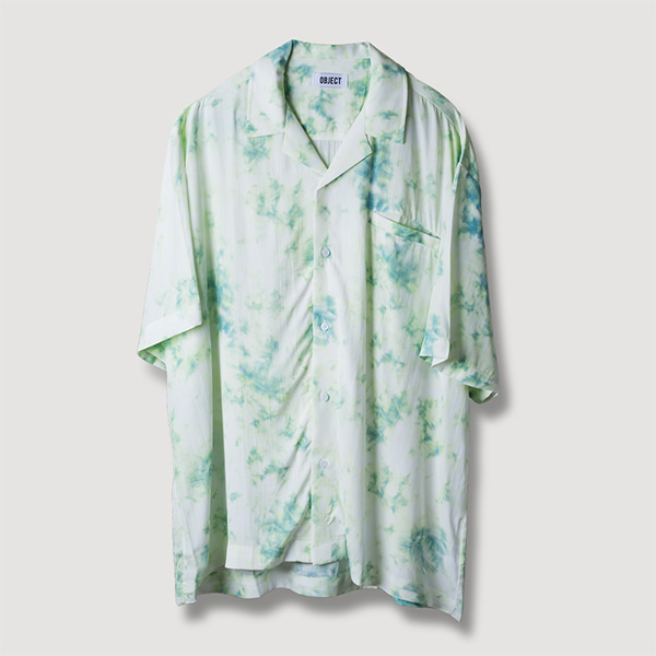 [오브젝트:OBJECT] TIE DYE HAWAIIAN SHIRT (MINT)
