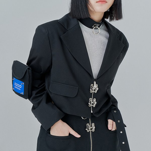 [어져드:OZOD] CROP BLAZER_black