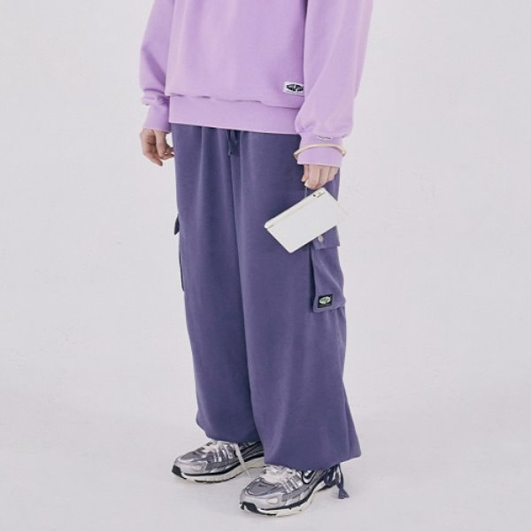 [SCULPTOR:스컬프터] Satin Cargo Jogger Pants [DUSTY LAVENDER]