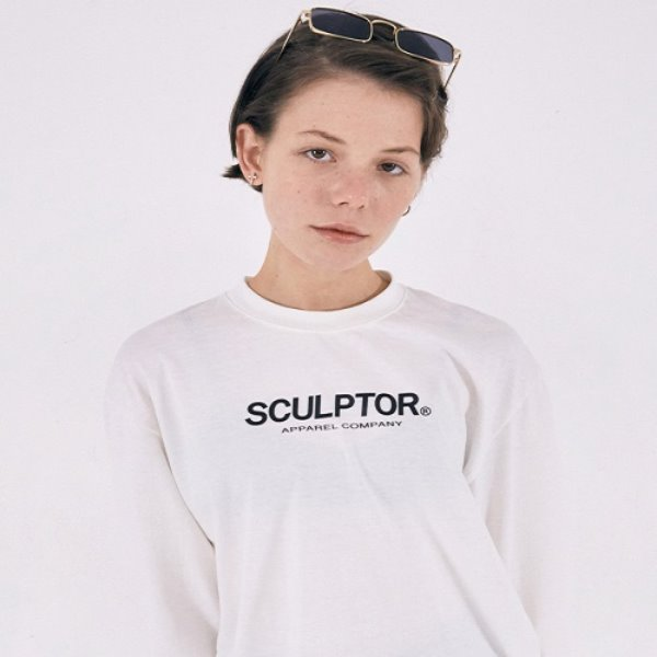 [SCULPTOR:스컬프터] S/Logo Long Sleeves [WHITE]